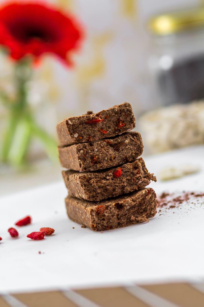 Diät Proteinriegel Bohne Goji vegan