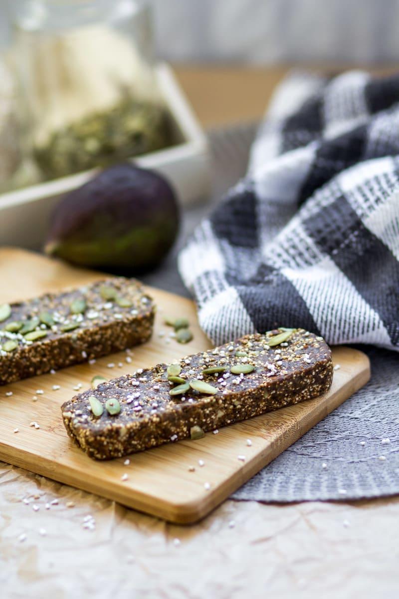 Superfood Proteinriegel Feige Schoko vegan