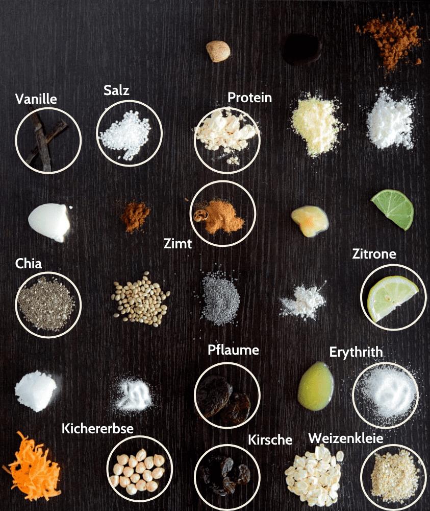 Diät Kichererbse Proteinriegel Zutaten