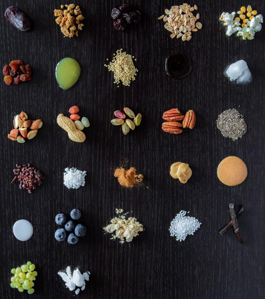Vegan SüßigkeitenersatzProteinriegel Zutaten