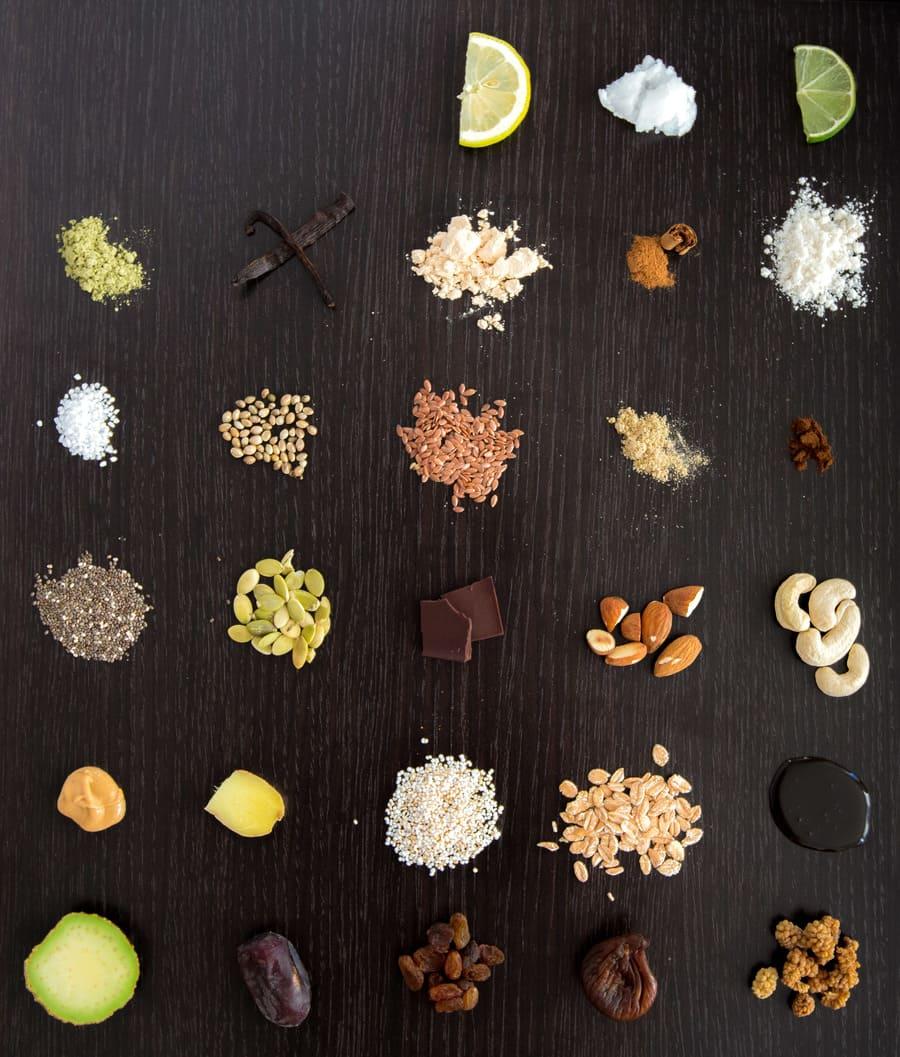 Vegan Superfood Proteinriegel Zutaten