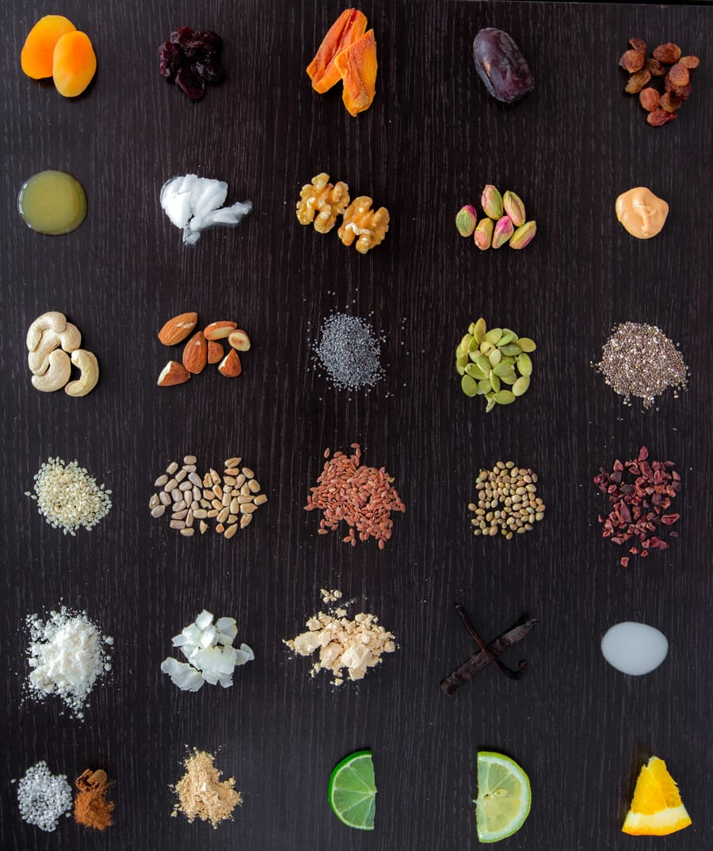 Vegan Paleo Proteinriegel Zutaten