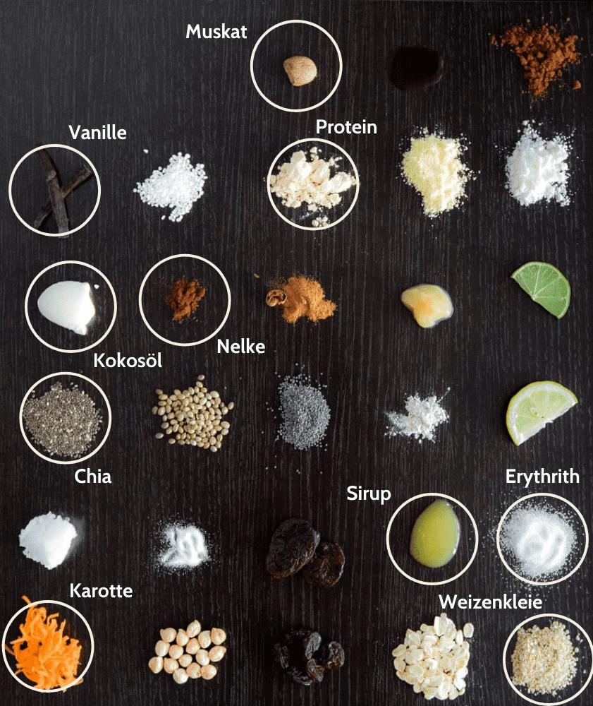 Diät Karotte Protein Proteinriegel Zutaten