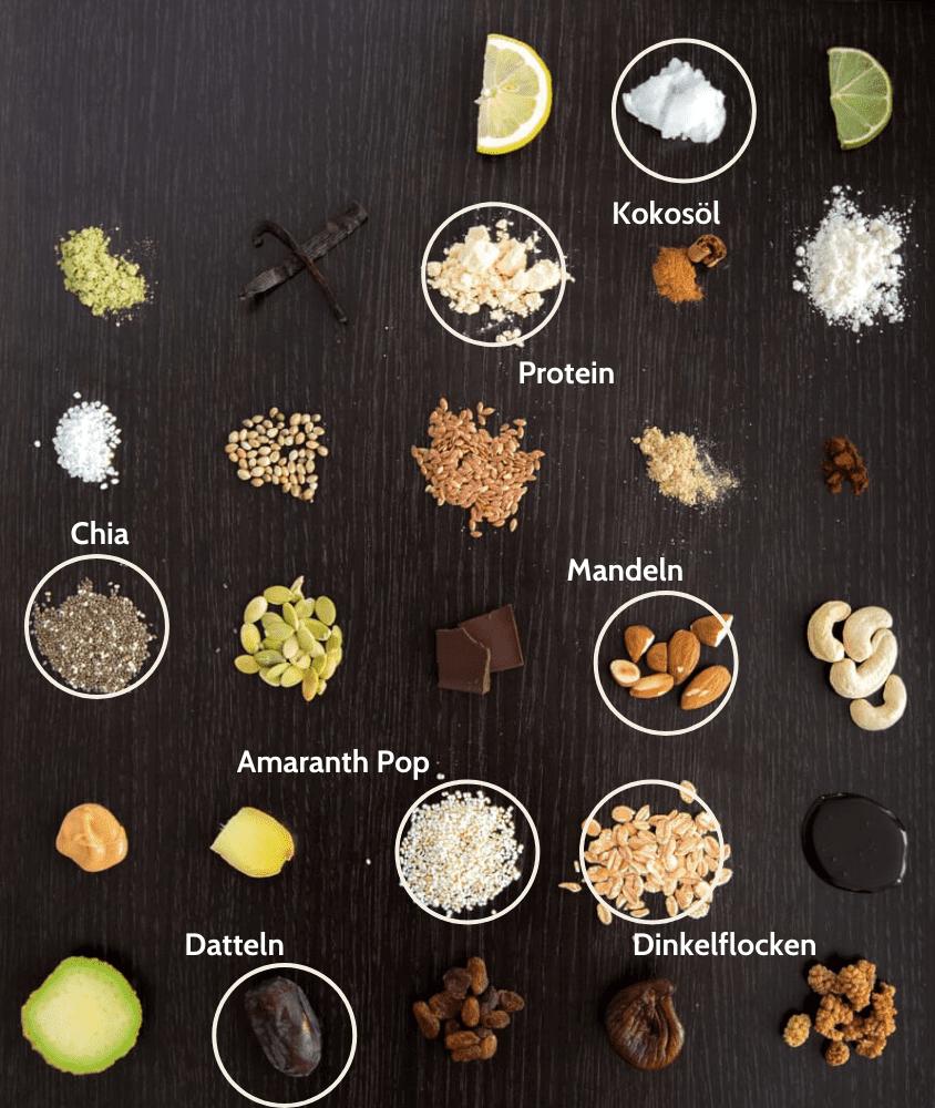 Superfood Amaranth Proteinriegel Zutaten