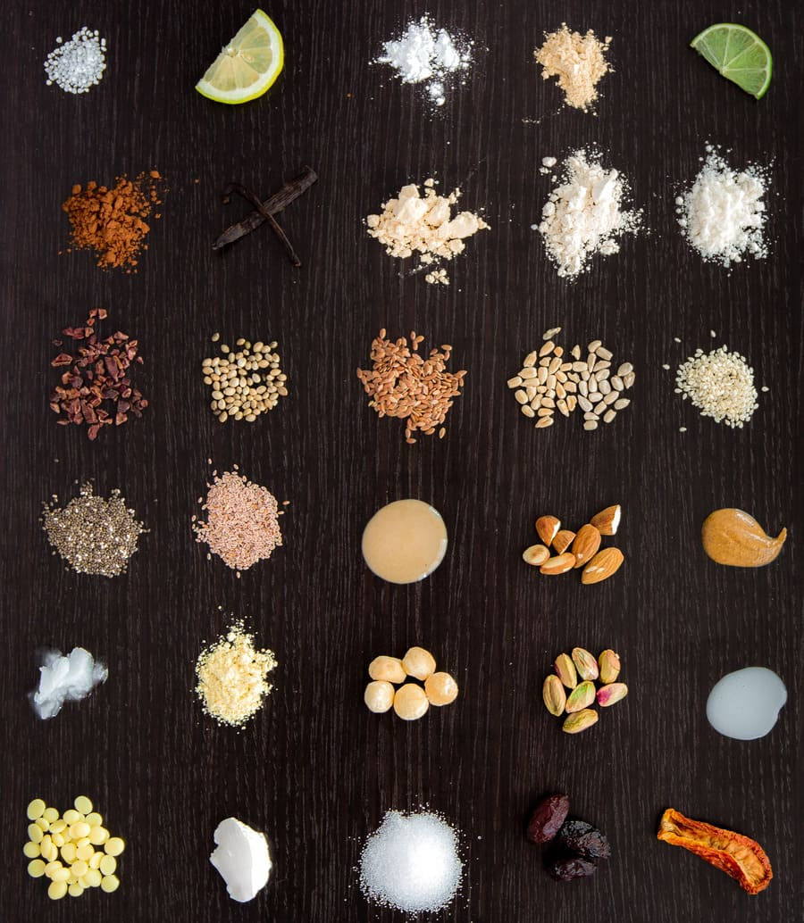Vegan Keto Proteinriegel Zutaten
