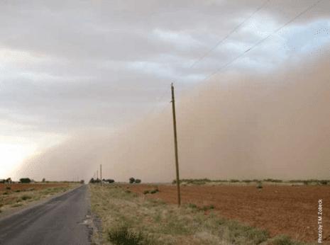 Bodenerosion intensive Landwirtschaft